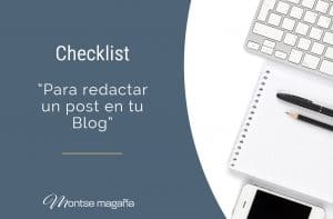 Checklist para redactar un post en tu Blog