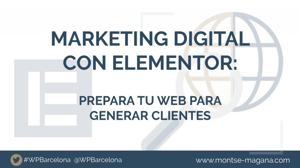 Marketing digital con Elementor